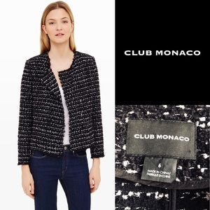 Club Monaco Larue Boucle Tweed Jacket Blazer 6